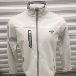 Tesla Limited Women's White Jacket Medium